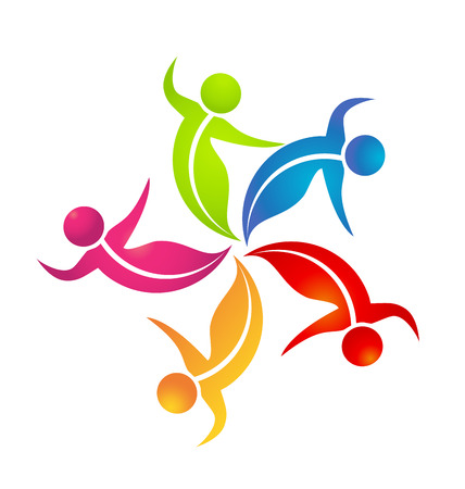 Teamwork dance people logo