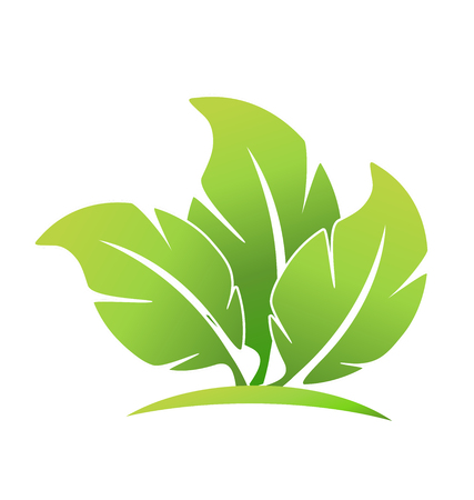 Ecological leafs foundation logo Vectores