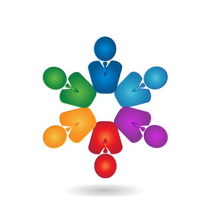 voluntary: Teamwork professional business people logo
