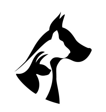 labrador: Pets silhouettes logo