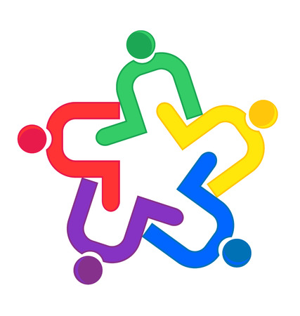 together voluntary: Teamwork Clip Hug Logo