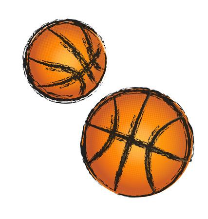 Basketbal grunge illustratie icoon
