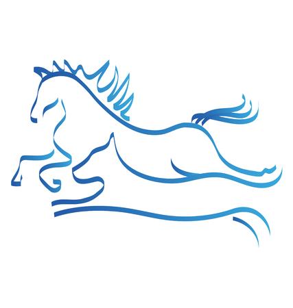 Paard en hond race competitie icoon