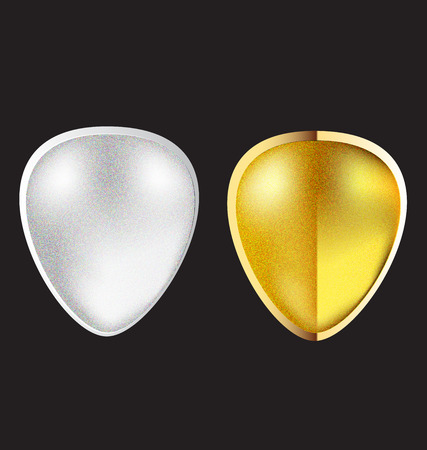 Jewel Gold and Silver Icon.
