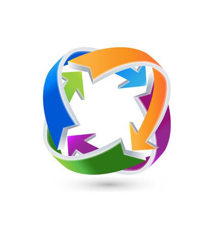 Emblème d'entreprise de recyclage Arrow