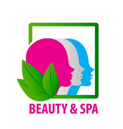 Beauty faces fashion spa emblem