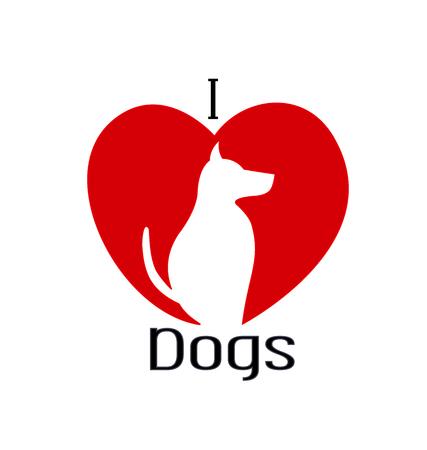 I love dogs illustration.