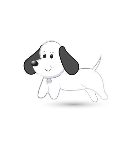 Cute little dog cartoon vector