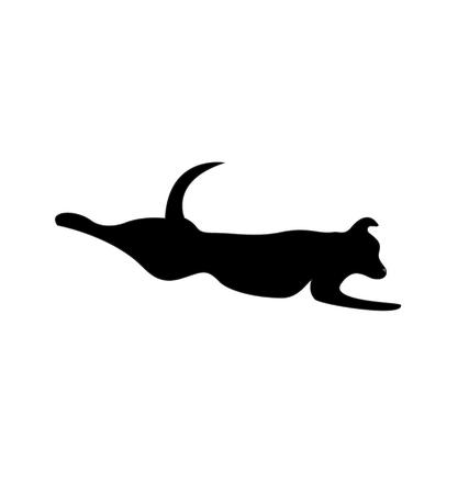 Dog jump icon vector