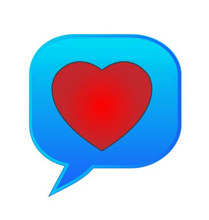 Thinking heart love speech bubble icon vector