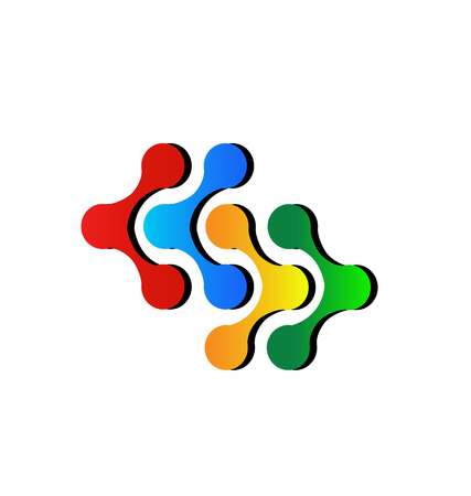 Connection teamwork business icon vector