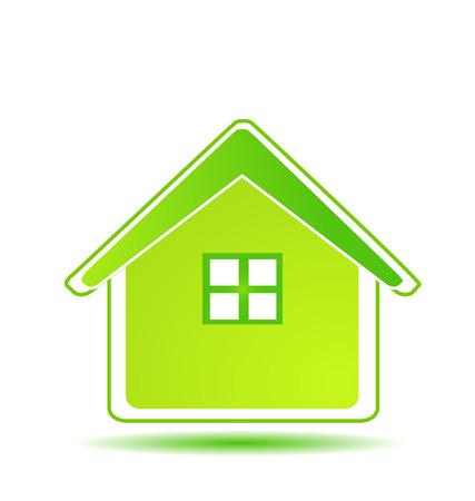 Green home environment icon vector