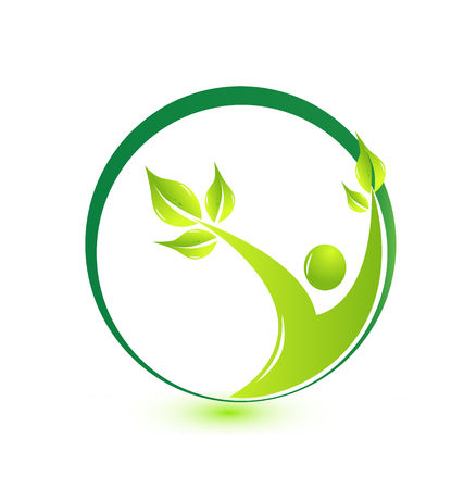 Health nature eco friendly user icon vector illustration. Illustration
