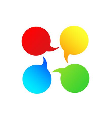 Bubble speech group communication icon vector Ilustracja