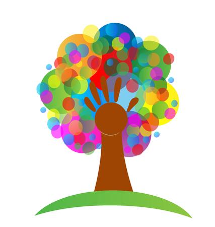 Arbre coloré icône abstraite illustration vectorielle Banque d'images - 96254512