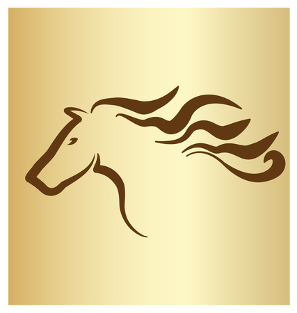 Elegant Horse Silhouette Icon Vector illustration.