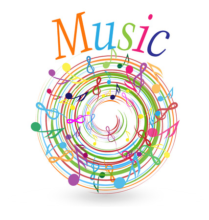 Music and musical notes concept, vector icon.