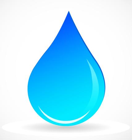 Water rain drop vector icon.