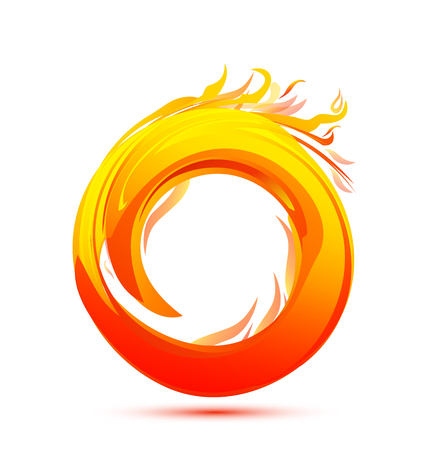 Ball of fire vector icon.