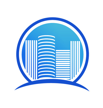 City business buildings, vector icon.