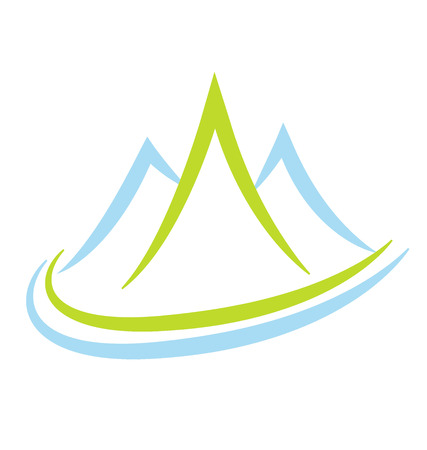 Mountain terrain and landscape, icon vector Illustration
