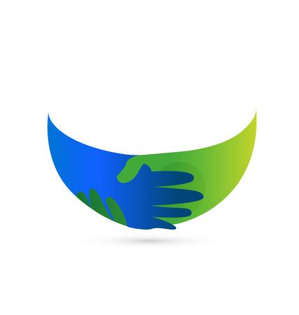 Business people handshake agreement, icon Vector illustration. Ilustração
