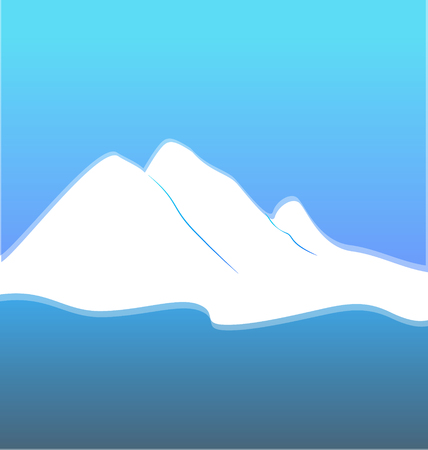 Mountain blue landscape background vector 일러스트