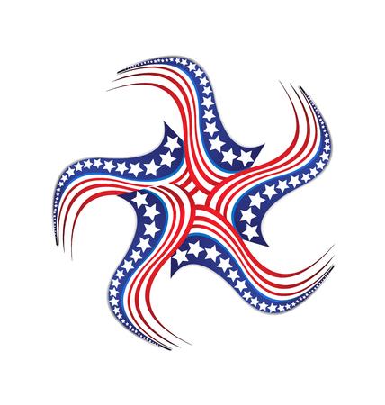 USA star stipe pride background Ilustrace