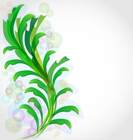 Green leaf plant background vector, elegant illustratiin Standard-Bild - 96631350