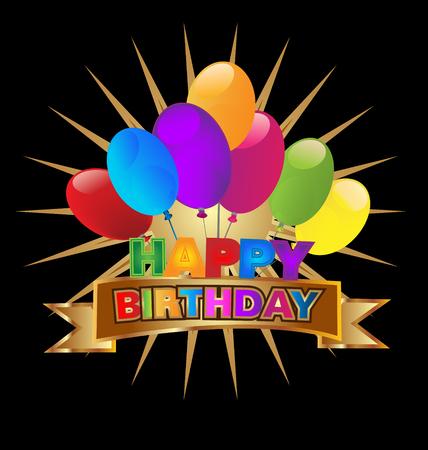 Happy Birthday party invitation, icon vector design