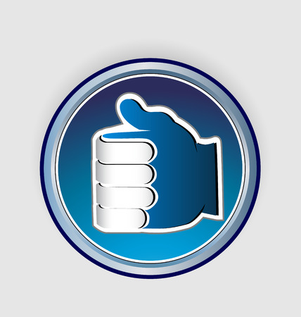 Thumbs Up Like Icon Vector illustration.