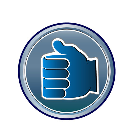 Thumbs Up Like Icon Illustration