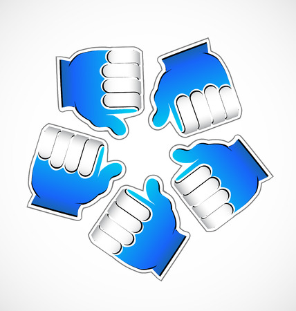 Thumbs Up icon in circle set
