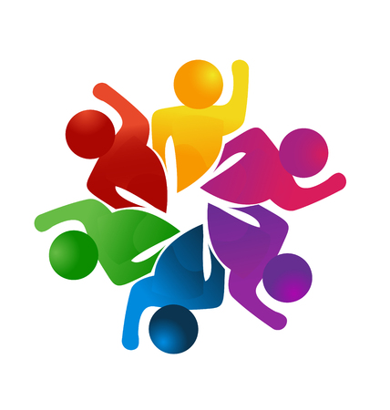 Gens de travail d'équipe, créativité et succès, icône Banque d'images - 97266045