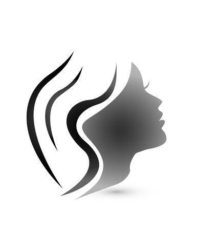 Beautiful woman hair vector icon