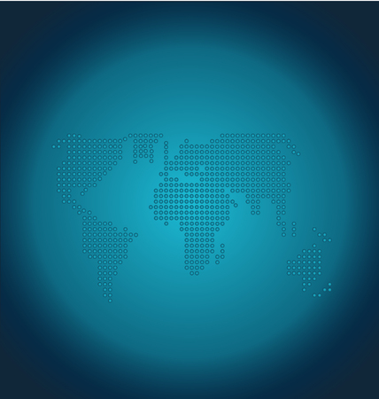 Vector communication world earth globe icon design Standard-Bild - 97041696