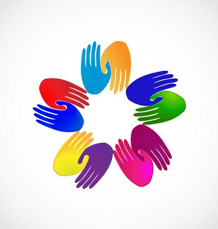 Teamwork handshake hands icon Illustration