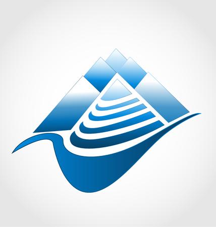 Blue mountain icon