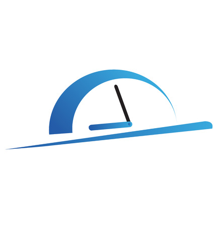 Fast time concept, rush hour logo, training session icon Çizim
