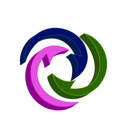 Reusable arrows icon vector, simple symbol design