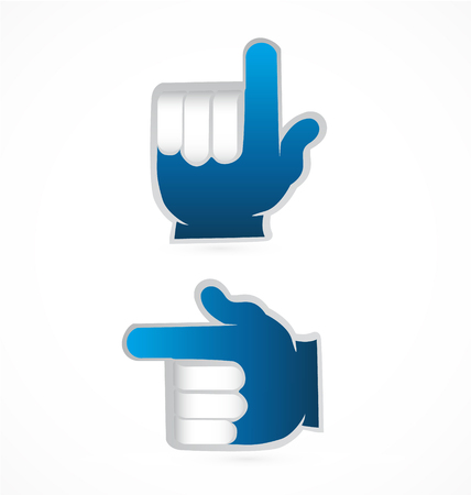 Hand pointer image illustration