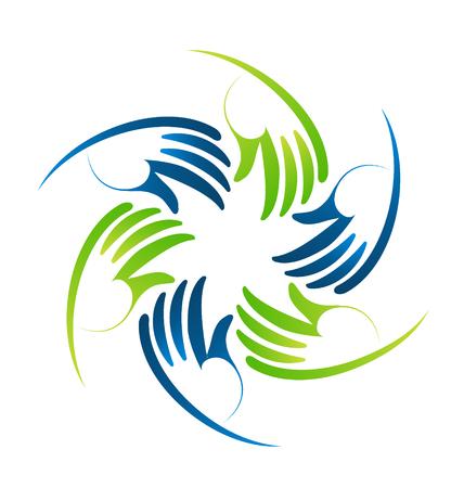 Circular wings design illustration