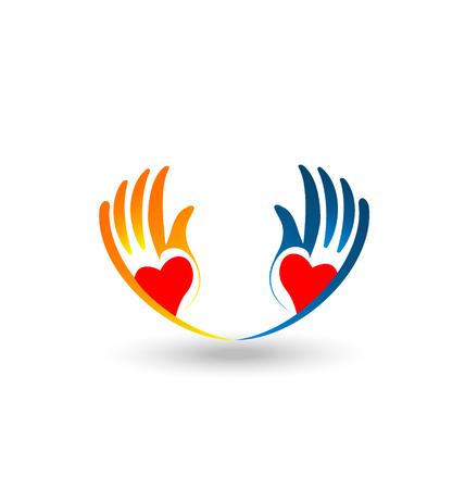 Charitable hands image illustration