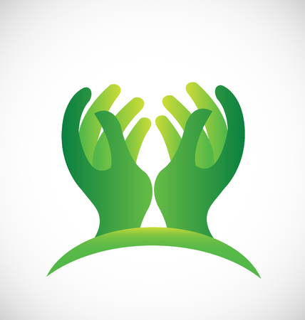 The hands of hope icon Illustration