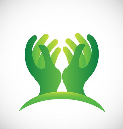 Icona delle mani della speranza