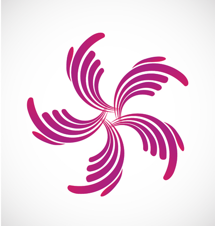 Abstract pointed click, flower icon