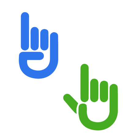 Hands with pointed fingers icon