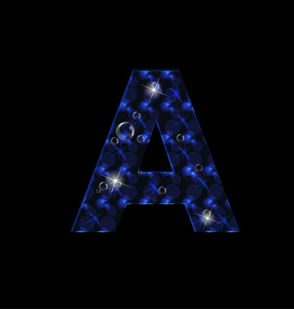 Letter A abstract blue icon