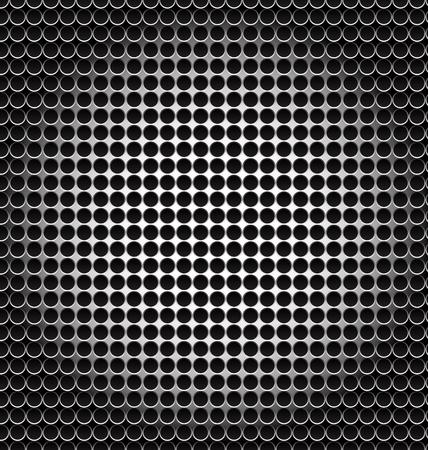 Black pattern halftone metal shape background