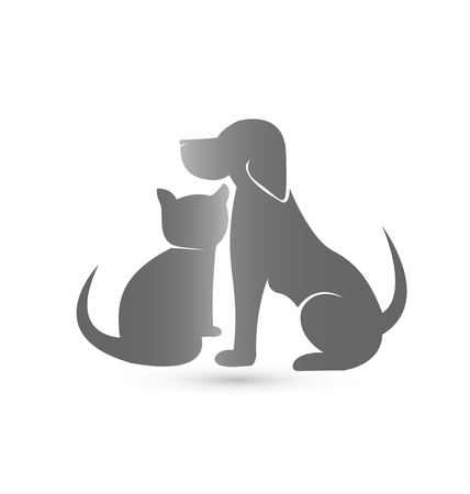 Cat and dog pet clinic icon